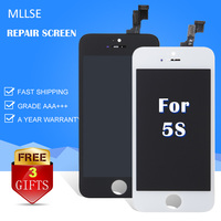10PCS LOT Pantalla For IPhone 5S LCD Module Touch Screen Digitizer Assembly Brand New Clone Screen