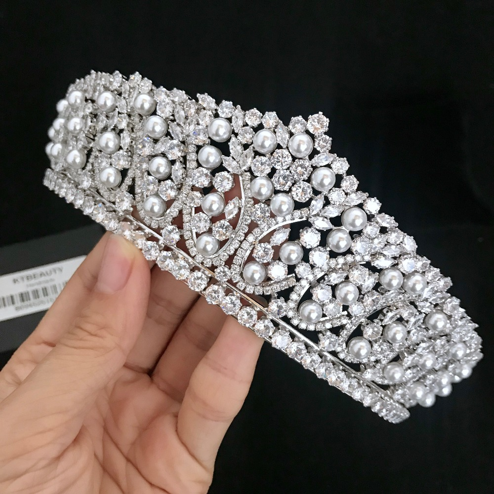 News Rhinestone Zircon Tiara Silver Gold Tiara Fashion Headpieces Royal  Bridal Wedding Dressing Crown Accessory Women Jewelry 76862ba1c347