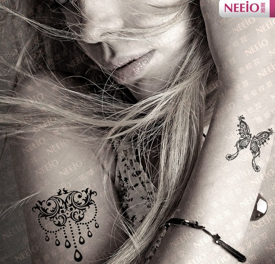 Aliexpresscom  Buy Little Butterfly Temporary Tattoos For Fingers Wrist Shoulder Neck Lower -7772