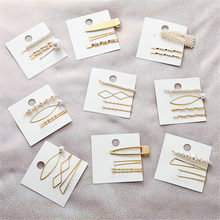 3Pcs/Set Fashion Pearl Metal Hair Clip Hairband Comb Bobby Pin Barrette Hairpin Headdress Accessories Beauty Styling Tool(China)