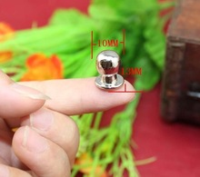 Silver Super mini Small handle nail pacifier jewelry box drawer handles knobs white head monk decoration