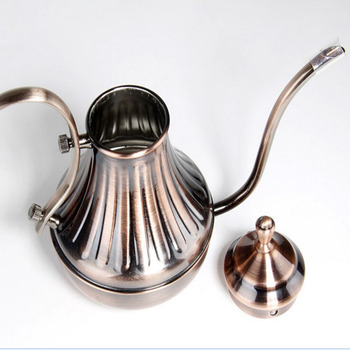 450ml Classic Design Palace Coffee Pot 304 Stainless Steel Long Mouth Tea Kettle Brewing Coffee Kettle Free Shipping