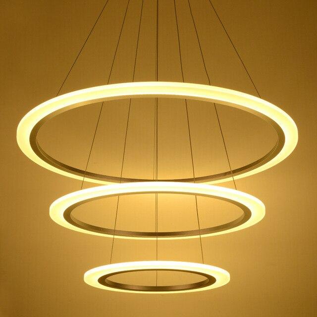 Acquista top moderno led acrilico lampadario illumina la lampada per soggiorno - Lampada per soggiorno ...