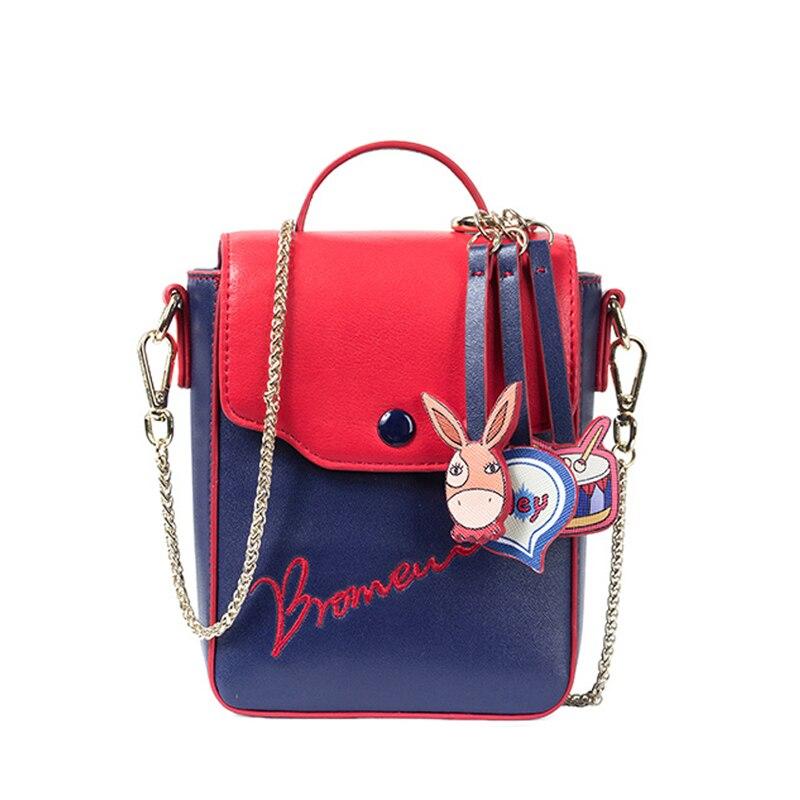 Original design brand 2018 youth women purses chains straps teenage fashion embroidery shoulder messenger female mini bags