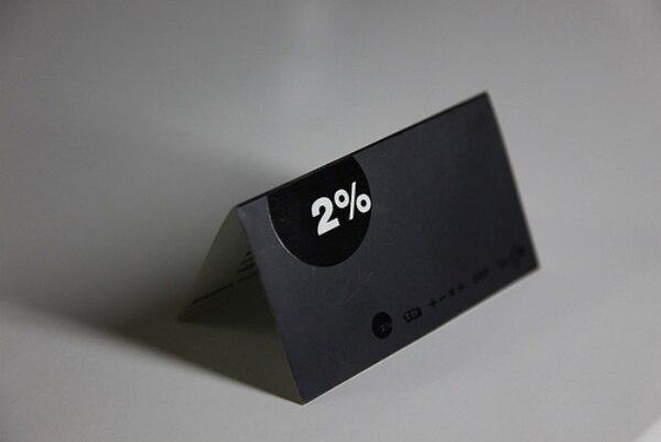 Personnaliss Innovants Noir Feuille Cartes De Visite Pliant Nom Fond Haute Qualit Dart 300gsm Papier Livraison Gratuite Dans