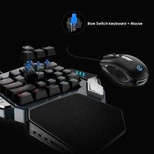 GameSir Z1 juego teclado una mano Cherry MX interruptor rojo teclado/mecánica azul/eje BattleDock… ratón de juego opcional