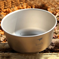 550ml Keith Bowl Single wall Titanium Bowl Food Container For Outdoor Camping Hiking Picnic Tableware Ti5321 Free Shipping