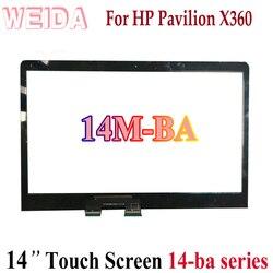 REPUESTO digitalizador táctil WEIDA para HP PAVILION X360 14M-BA 14-ba Serie 14 Panel de pantalla táctil