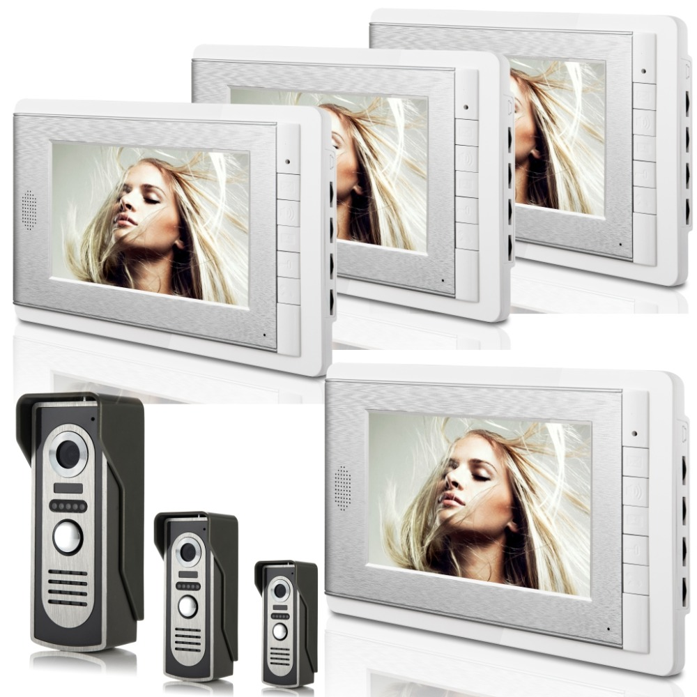 3V4 7 Inch Monitor Water-Proof IP66 Wired Intercom Video Door phone
