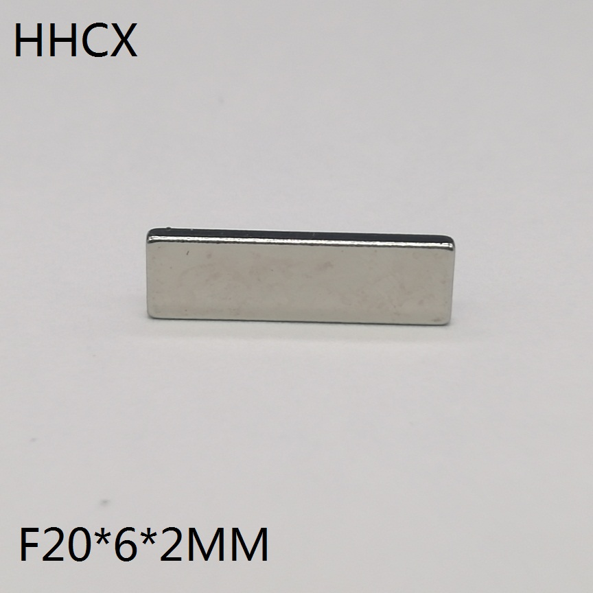 10pcs/lot F 20x6x2 Mm N35 Strong Square NdFeB Rare Earth Magnet 20*6*2 Mm Neodymium Magnets 20mm X 6mm X 2mm