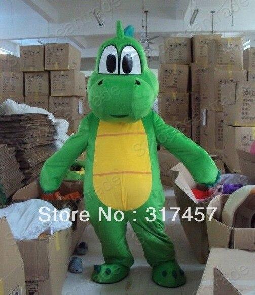 Yoshi Dinosaur Super Mario Mascot Costume Adult Character Costume