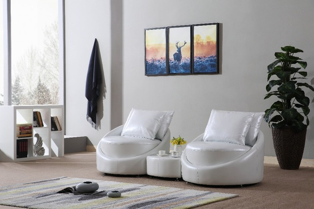 Mybestfurn Luxury Modern Sofa Set, Made of 2.0mm Thick Italian Leather, Filled With Feather & Down Sofa Table Set Storage In USA