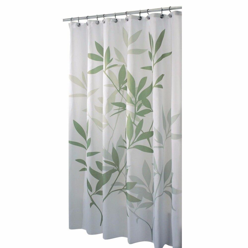 Bamboo bathroom decor - Fresh Bamboo Leaf Design Shower Curtain Bathroom Waterproof Mildewproof Polyester Fabricwaterproof Cortina Ducha Home Decor Hot