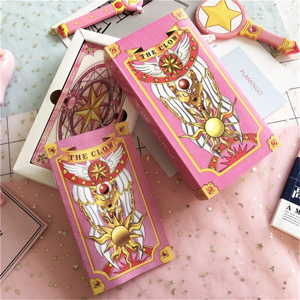 Cosplay Halloween props Card Captor SAKURA Tarot KINOMOTO SAKURA Magic props Tarot for card games Pink/Yellow game props costume