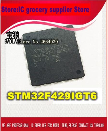 Free Shipping  New Original STM32F429IGT6 STM32F429 LQFP176 tms320f28335 tms320f28335ptpq lqfp 176