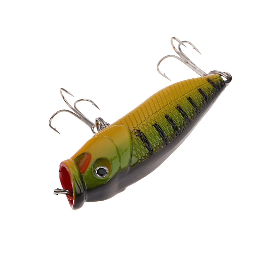 7cm 8.8g Hard Lure fishing Bait with triple hook (Yellow)