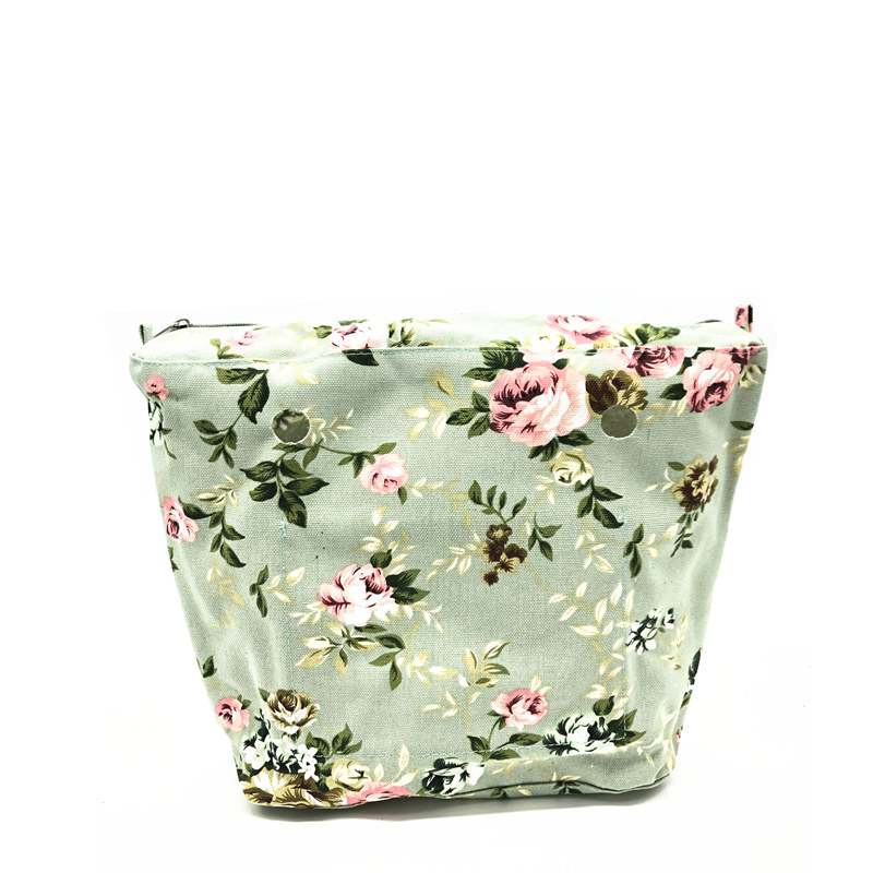 Fishion waterproof Inner Lining Zipper Pocket for Classic Size for Obag Insert with Inner for your O Bag 2017 new colorful cartoon floral insert lining for o chic ochic canvas waterproof inner pocket for obag women handbag