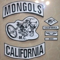 Mongoles Mc Parche Personalizado Chaleco de La Motocicleta Del Motorista Para Chaqueta Parches