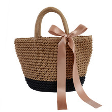 Ladies handbags designer summer straw bag holiday wind tourism beach shoulder hand-woven woven bags women