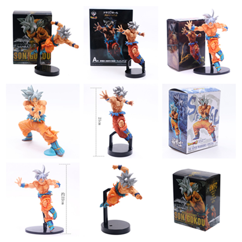 Action Figure Dbz Goku Collection Model 16-26cm Action & Toy Figures 5 Styles Dragon Ball Z Goku Super Saiyan Bomb Wave Silver Hair Limited Ver