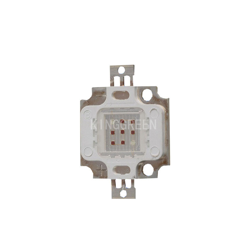 10X hot sales mixed-color 10W integrated high power led chip 660nm:450nm =7:2 for plant growth led lighting free shipping