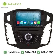 Quad Core DAB+ 3G WIFI Android 5.1.1 HD 8″ 1024*600 FM USB Car DVD Player Radio Audio Stereo Screen For Ford Focus 3 2011-2014