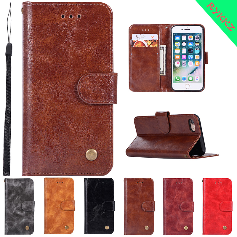 For Apple iphone 6 6s 2018 New retro TPU case for iphone6 iphone 6 S flip wallet mobile leather case for iphone 6 6S phone bag