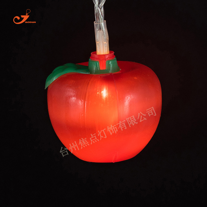 1.65M 3D Red Apple 10 LED Bulbs String Light Battery Operated Child Kids Home Party Decor DIY Wedding Backdrop with Fairy Lights
