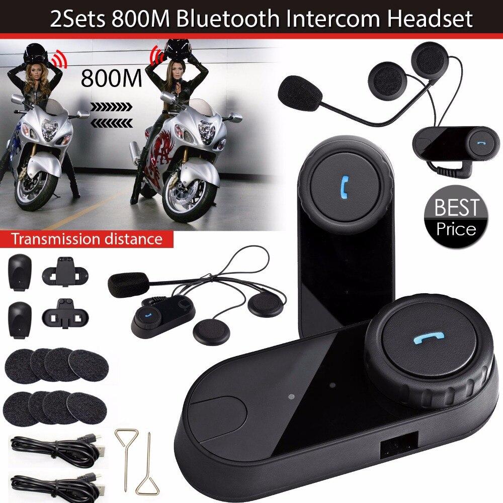 1 пара 8 часов Водонепроницаемый Bluetooth мотоциклетный шлем Интерком-Гарнитура спортивные шлемы БТ Intephone с RM Радио