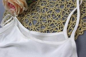 Image 4 - Mulher 100% de seda espaguete cinta camisola tanque top colete sleepwear tamanho m l jn003