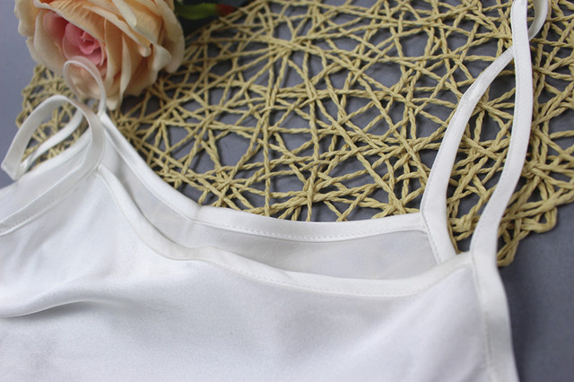 Women's 100% Silk Spaghetti Strap Camisole Tank Top Vest Sleepwear M L JN003 4