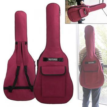 40/41 pulgadas impermeable Oxford tela guitarra funda Gig bolsa doble correas algodón acolchado suave 600D tela Oxford mochila funda de transporte