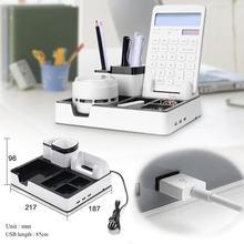 Cobee USB Charging pen holder desk organizer pen Stand Multi-function Pen Container pencil holder Desk Holder Mobile 3 Port