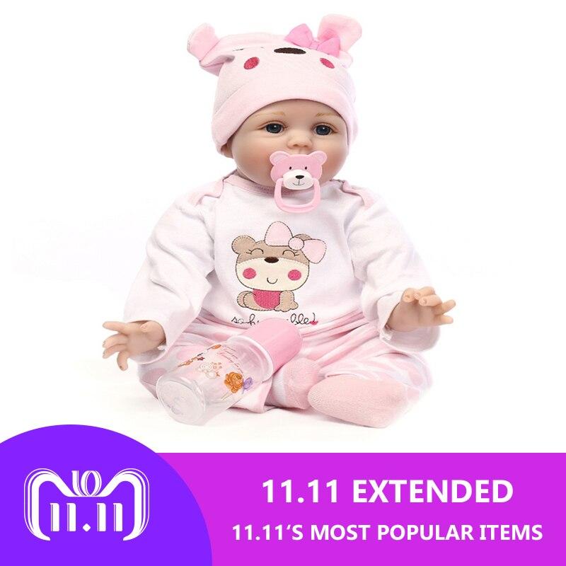 См 55 см силикона Reborn Baby Doll игрушечные лошадки реалистичные мягкая ткань новорожденных куклы Детская Кукла Reborn подарок на день рождения для ...