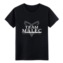 Shadowhunters Team Malec t shirt Customize Short Sleeve S-XXXL Letters Sunlight Breathable summer Trend shirt цена