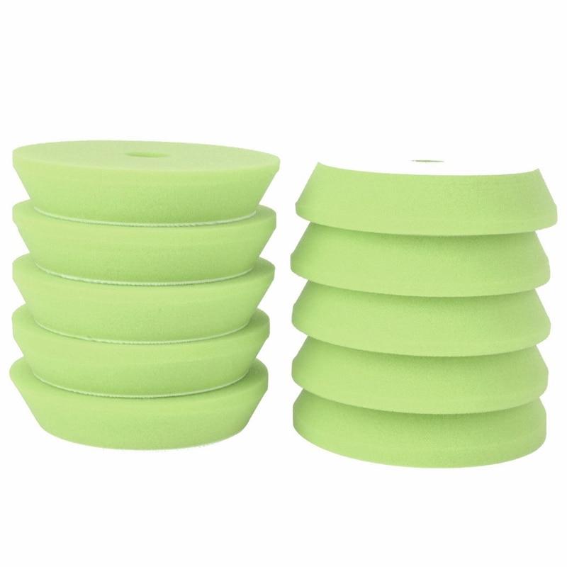 MAYITR 10PCS 6 INCH 150mm Polishing Sponge Waxing Buffing Plate Pads Polishing Pad Kit Set Cleaning Tools For Car Polisher