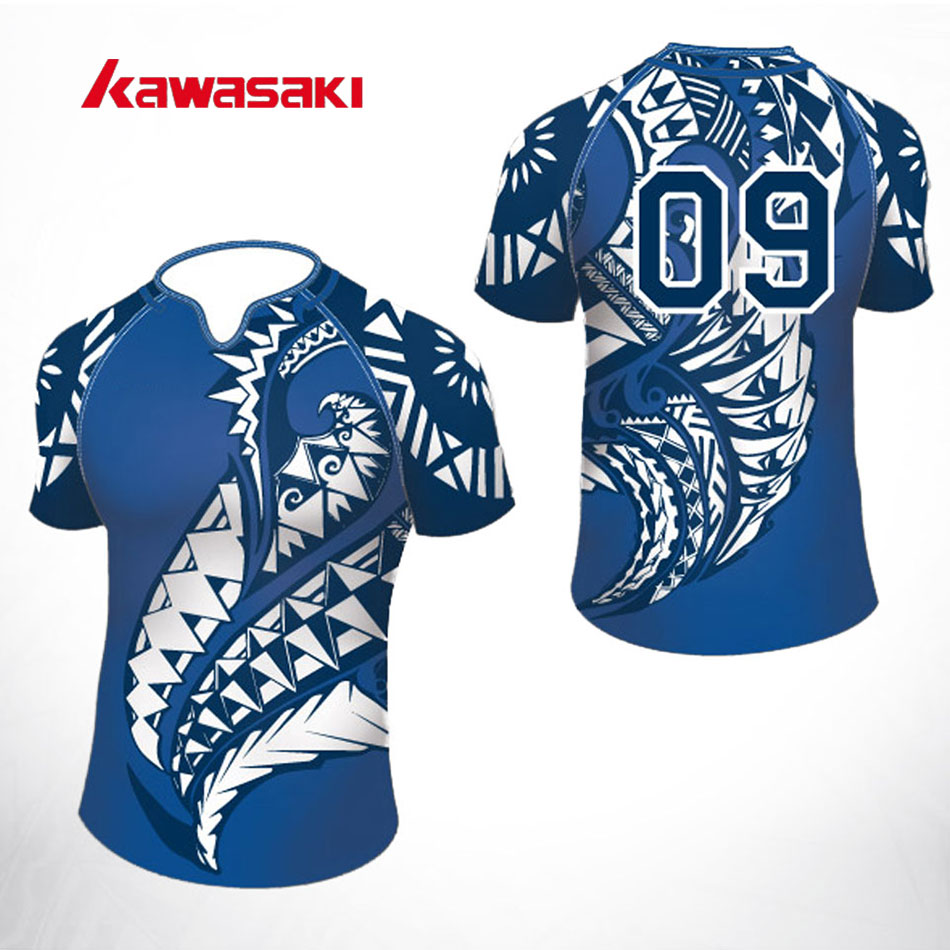 ee87725b0 2017 Kawasaki Custom Rugby Jersey Top Mens& Women Sublimation 100%  Polyester Quick Dry Youth Training Match Team wear Shorts