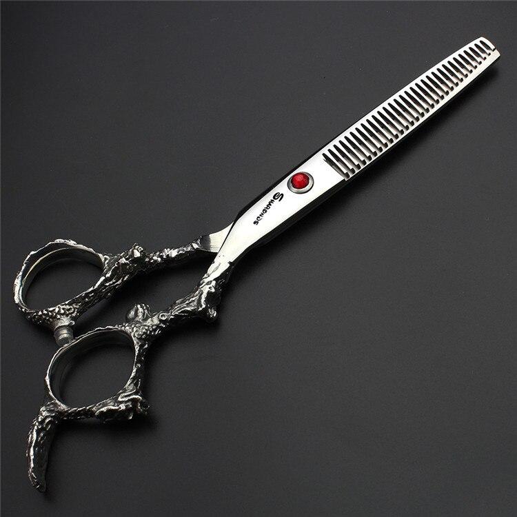6 Inch Professional High Quality Barber Hair Cutting Hairdressing Scissors 440c Dragon Haircut Thinning Shears Barbershop Kit
