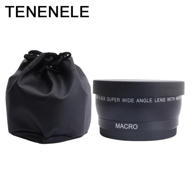 Camera Lens 0.45X 55 58 62 67 72MM Wide Angle Lens with Macro HD Optics Lenses For Canon Nikon Sony Fuji Camera Lens Accessories