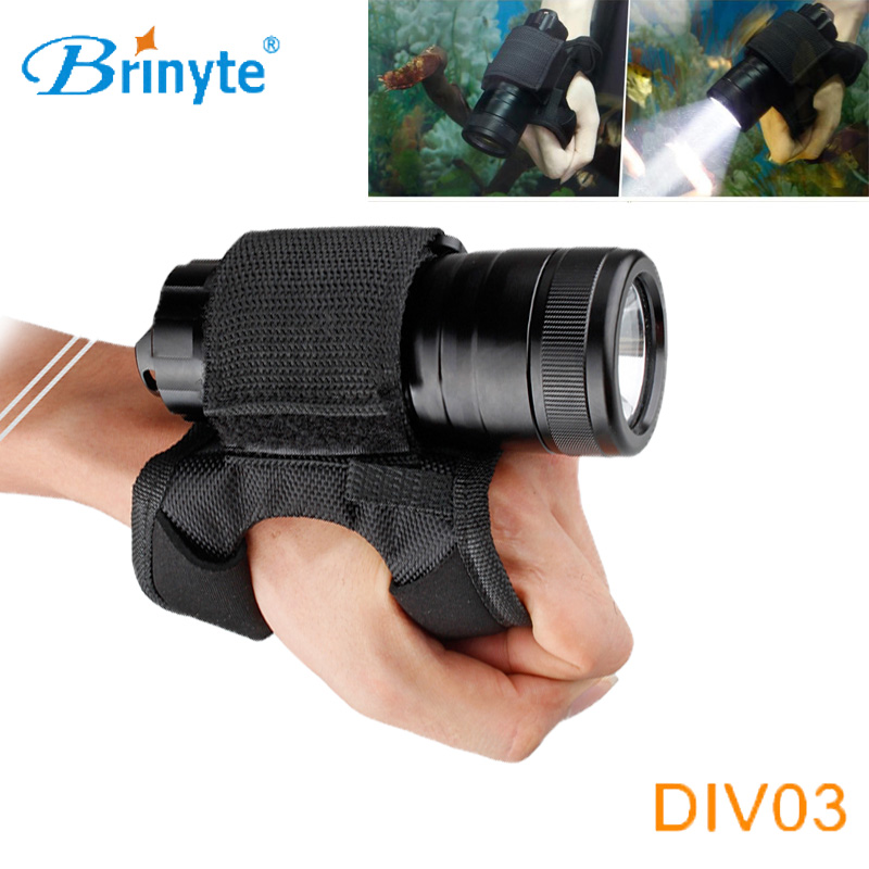 Brinyte DIV03 Mini Portable Underwater LED Scuba Diving Flashlight Torch Cree XM-L L2 LED Diver Rescue Suits Diving Flashlight 3800 lumens led diving flashlight lantern cree xm l t6 waterproof underwater scuba flashlight torch light lamp diver zk92