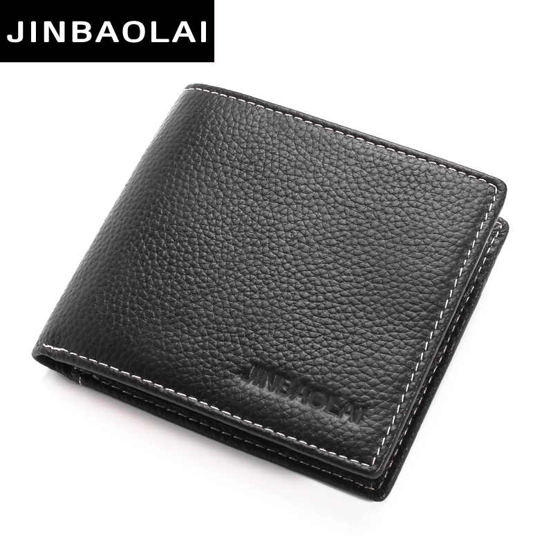 New Classic Cow Leather Wallet men Small Short Wallets Men Luxury Brand Male Purse With Card Holder Dollar Price Credit&Id Card