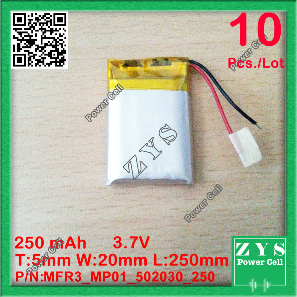 Safety Packing(Level4) 10 pcs 3.7V lithium polymer battery 052030 502030 250mah MP3 MP4 MP5 toy polymer lithium battery B.P.B. стоимость