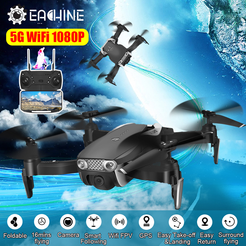 Eachine FPV Quadcopter Camera Rc Drone Flight-Time 6-Axis-Gyro WIFI Follow 1080P GPS