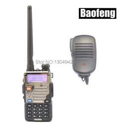 Радио комплекты новый черный Baofeng uv-5re VHF/UHF двухдиапазонный ветчина с подкладкой Радио любитель портативная рация + Динамик MIC Детали для
