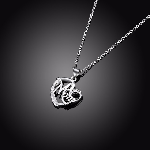 Best gifts for mom heart pendant necklace for women with cz stone best gifts for mom heart pendant necklace for women with cz stone fashion mother jewelry 925 mozeypictures Image collections