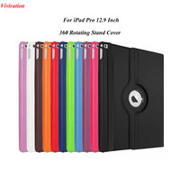 2017 Newest Most Popular 360 Degree Rotating Cover Case For IPad Pro 12 9 Wake Up