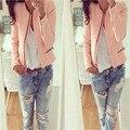 Chaqueta de la Cremallera Casual Nuevo de Las Mujeres Señora Delgada de Color Rosa de La Chaqueta Outwear Parka Trench Coat Jacket S-XL