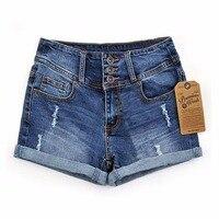 2018 летние новые корейские женские тонкие бисерные трехмерные рваные шорты с высокой талией джинсовые шорты для женщин свободные плюс джинс...