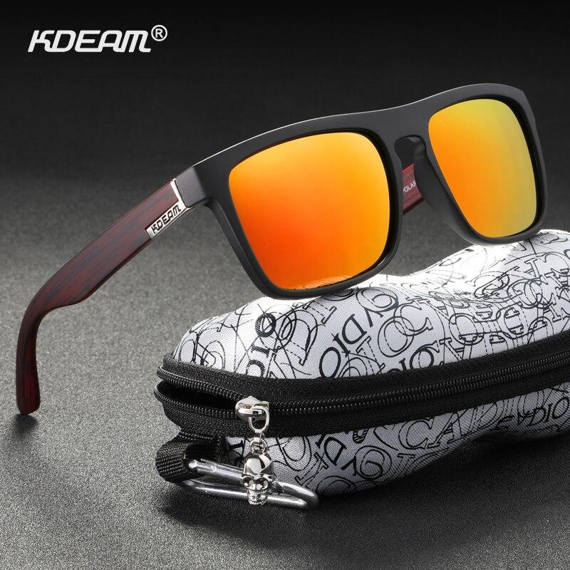Kdeam alta moda polarizada óculos de sol para homem e mulher uv-block noite óculos de condução photochromic lentes de sol mujer