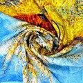 2016 Продажа Зима Шарф Атласный Платок Высокое Качество 53x53 см 100% Шелк Шарфы Женщины Люксовый Бренд Дамы естественные Небольшие Sq084